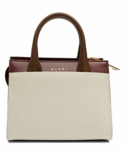 Law Two-Tone Leather Cross-Body Bag