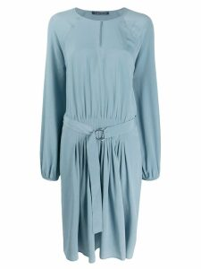 Luisa Cerano belted mini dress - Blue