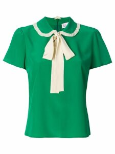 Red Valentino pussy-bow fastening blouse - Green