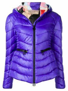 Emilio Pucci Zip Front Quilted Coat - Purple