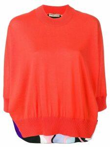Emilio Pucci Vallauris Print Wool Jumper - Orange
