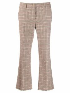 Luisa Cerano check cropped trousers - Neutrals