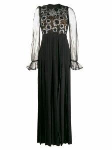 Self-Portrait floral evening dress - Black