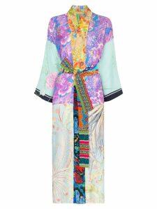 Rianna + Nina mixed floral-print kimono - 108 - Multicoloured
