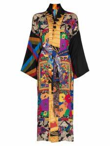 Rianna + Nina floral print silk kimono - Multicolour