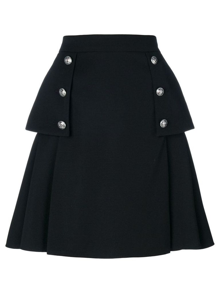 Alexander McQueen buttoned A-line skirt - Black
