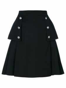 Alexander McQueen buttoned A-line skirt - Black
