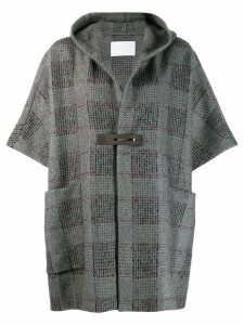 Fabiana Filippi short-sleeve hooded coat - Grey