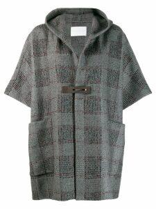 Fabiana Filippi short-sleeve hooded coat - Grey
