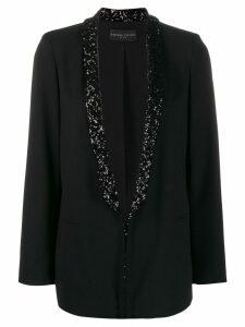 Fabiana Filippi embellished-lapel blazer - Black