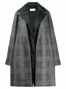 Fabiana Filippi oversized checked coat - Grey