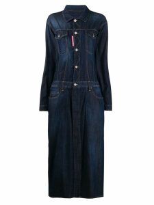 Dsquared2 maxi denim dress - Blue