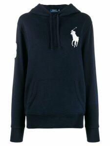 Polo Ralph Lauren oversized logo hooded sweater - Blue