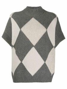 Fabiana Filippi short-sleeved cashmere jumper - Grey