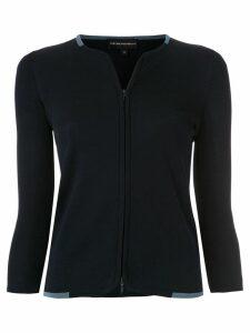 Emporio Armani zip-up cardigan - Blue