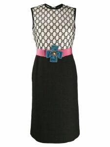Gucci two-tone GG macramé dress - Black