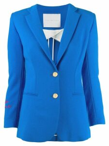Giada Benincasa embossed button blazer - Blue
