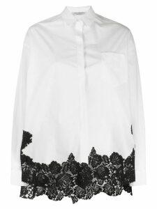 Philosophy Di Lorenzo Serafini contrast lace trim shirt - White