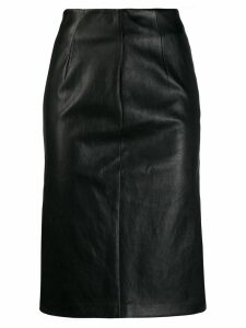 Prada fitted midi skirt - Black