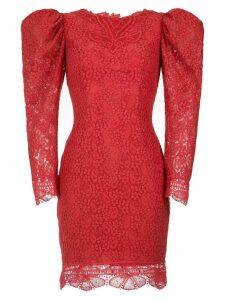 Martha Medeiros lace Belle dress - Vermelho Pitanga
