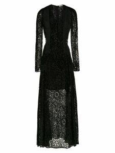 Martha Medeiros long velvet dress - Black