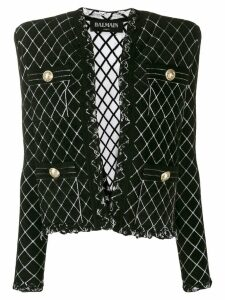 Balmain tweed knitted blazer - Black