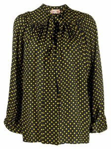Nº21 polka dot blouse - Black
