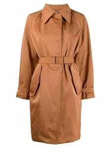Nº21 belted padded coat - Brown