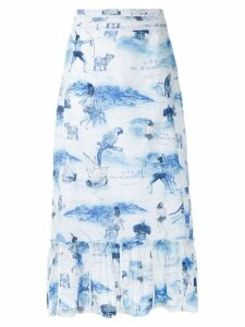 Isolda Morere midi skirt - Blue