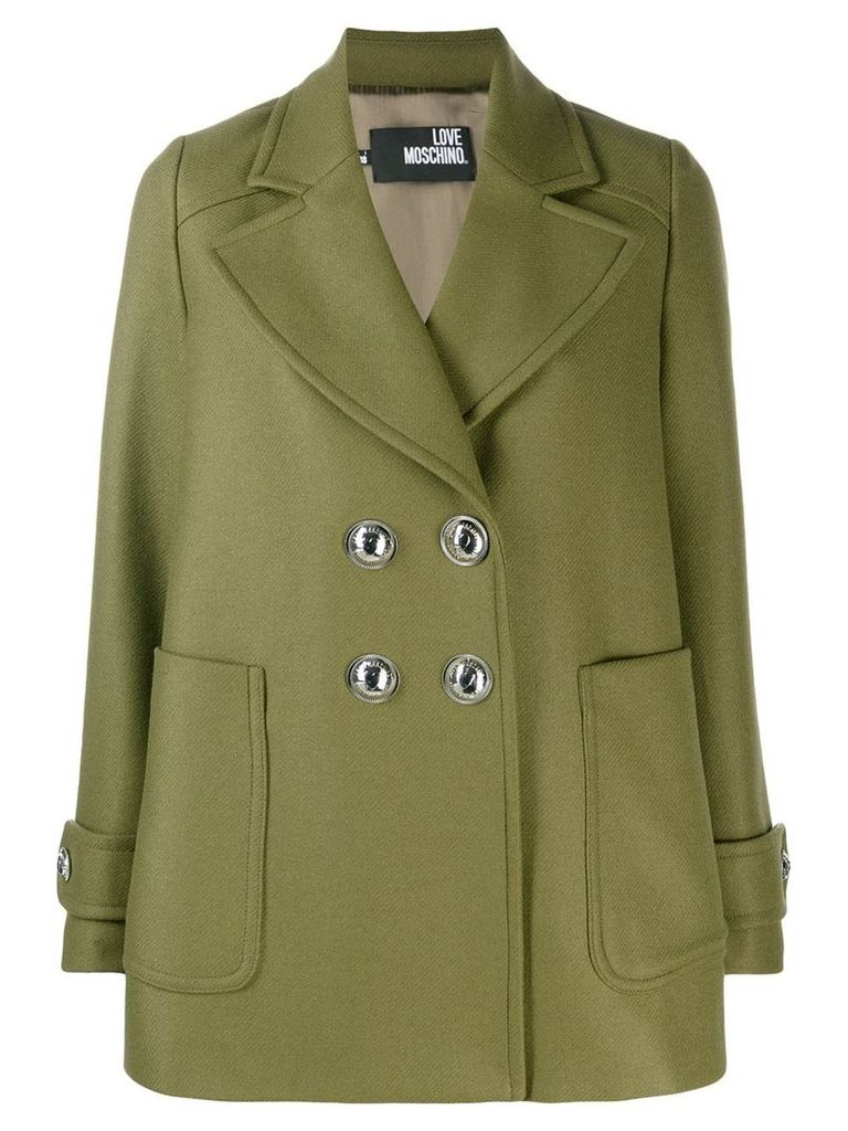 Love Moschino double-breasted coat - Green