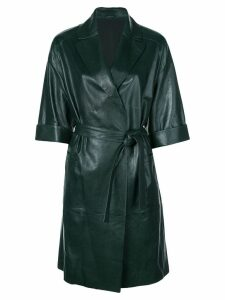 Brunello Cucinelli belted trench coat - Green