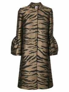Carolina Herrera tiger pattern tailored coat - Brown
