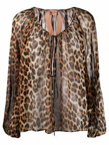 Nº21 leopard print blouse - Brown