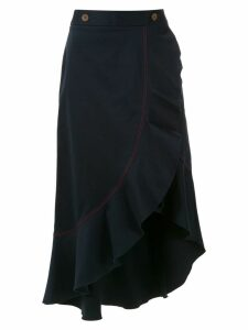 Isolda Abaporu midi skirt - Blue