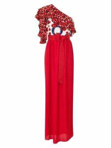 Isolda Abalone maxi dress - Red