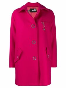 Love Moschino oversized midi coat - Pink