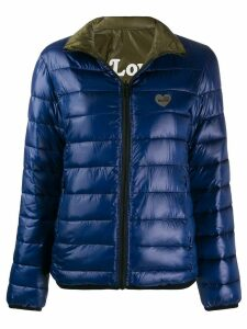 Love Moschino Heart Logo puffer jacket - Blue