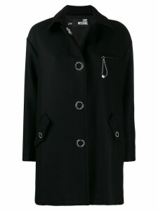 Love Moschino oversized midi coat - Black