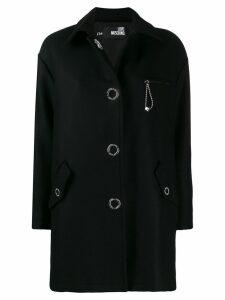 Love Moschino oversized midi coat - Black