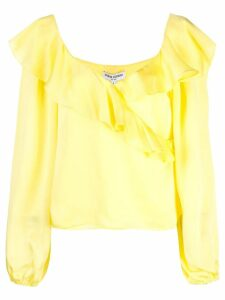 Opening Ceremony cascade wrap top - Yellow