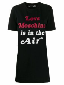 Love Moschino logo print T-shirt dress - Black
