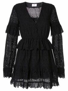 Sir. Amelie ruffled mini dress - Black