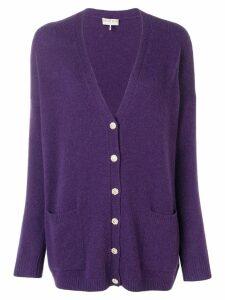 Emilio Pucci Oversized Cashmere Cardigan - Purple