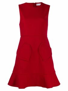 Red Valentino heart pocket mini dress