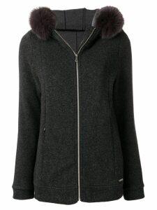 Woolrich hooded zipped cardigan - Grey