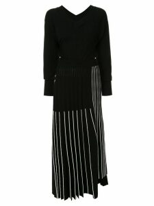 Maison Mihara Yasuhiro V-neck sweater dress - Black