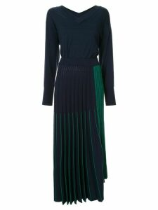 Maison Mihara Yasuhiro V-neck sweater dress - Blue