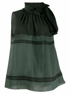 Fabiana Filippi pussy bow sleeveless blouse - Black