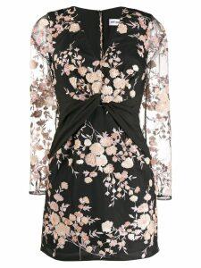 Self-Portrait floral embellished mini dress - Black