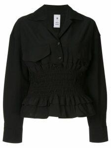Maison Mihara Yasuhiro ribbed blouse - Black